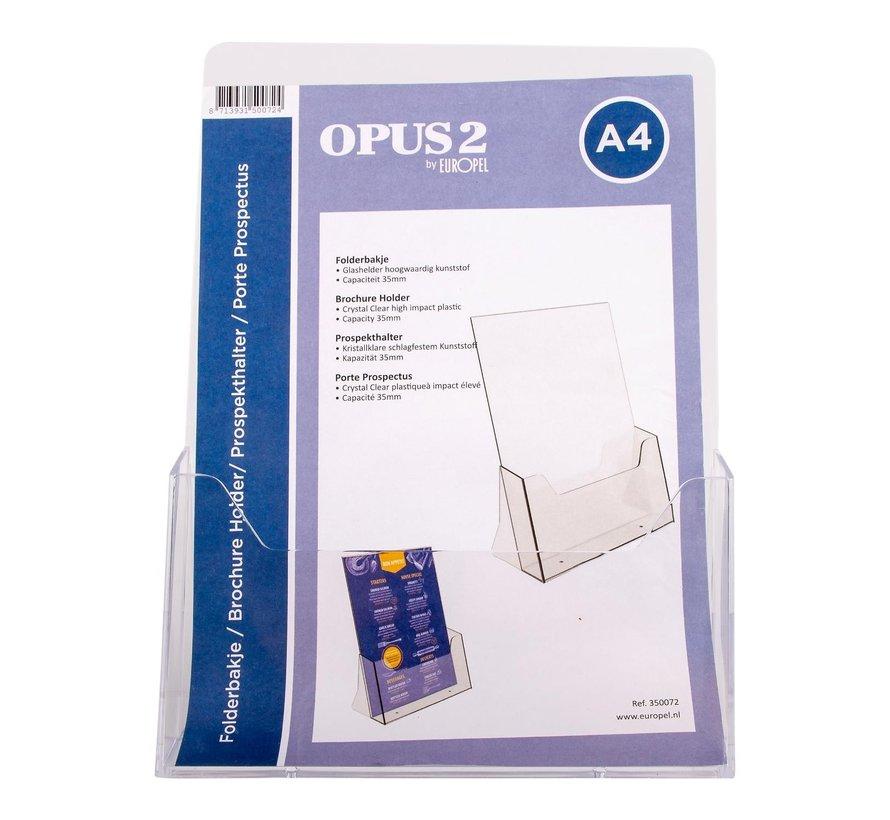 Opus2 Folderhouder A4 acryl, 1 stuk