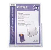Overige merken Opus2 Folderhouder A5 acryl, 1 stuk
