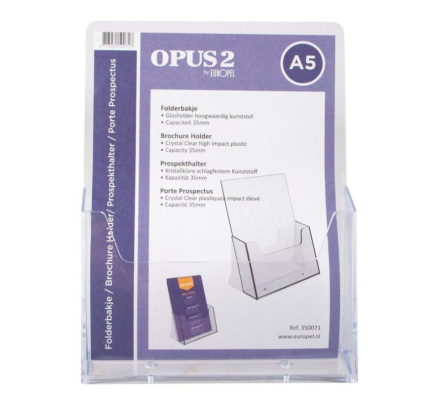 Opus2 Folderhouder A5 acryl, 1 stuk