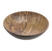 Overige merken Cheforward Schaal bol 25,5 cm, hout-zwart, 1 stuk