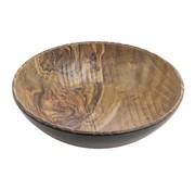 Overige merken Cheforward Schaal bol 33 cm, hout-zwart, 1 stuk