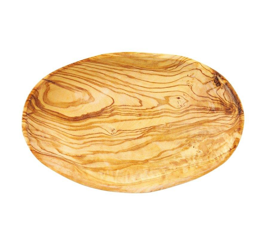 Bowl&Dishe Olijfhouten schaal ovaal 19 cm, 1 stuk
