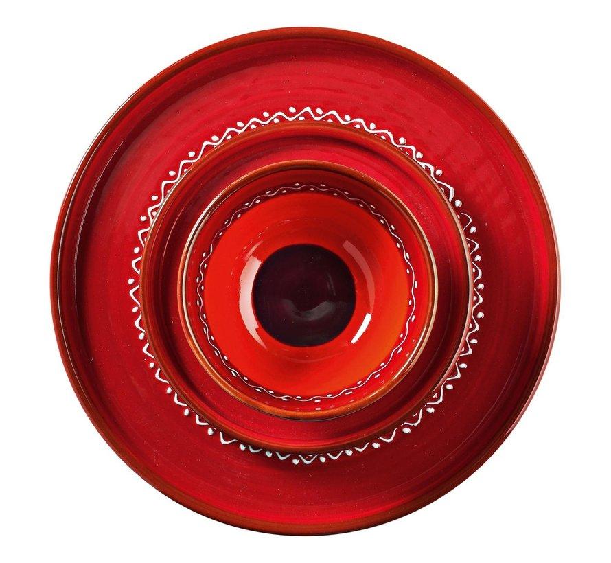 Bowl&Dishe Tapasbord Rood 28 cm, 1 stuk