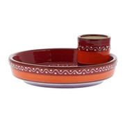 Overige merken Bowl&Dishe Olijvenbord Rood met pinchohouder, 15 cm, 1 stuk