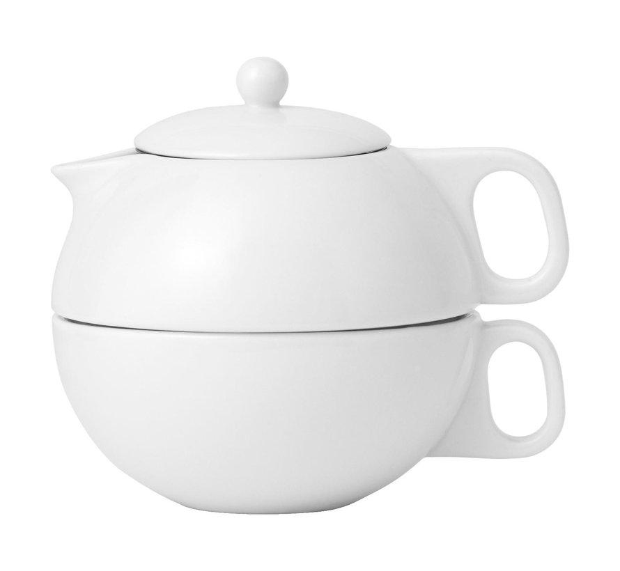 Viva Theepot tea for one 0,3 liter, wit, 1 stuk