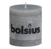 Bolsius Bolsius Stompkaars rustiek 80 x 68 mm, lichtgrijs, 1 stuk