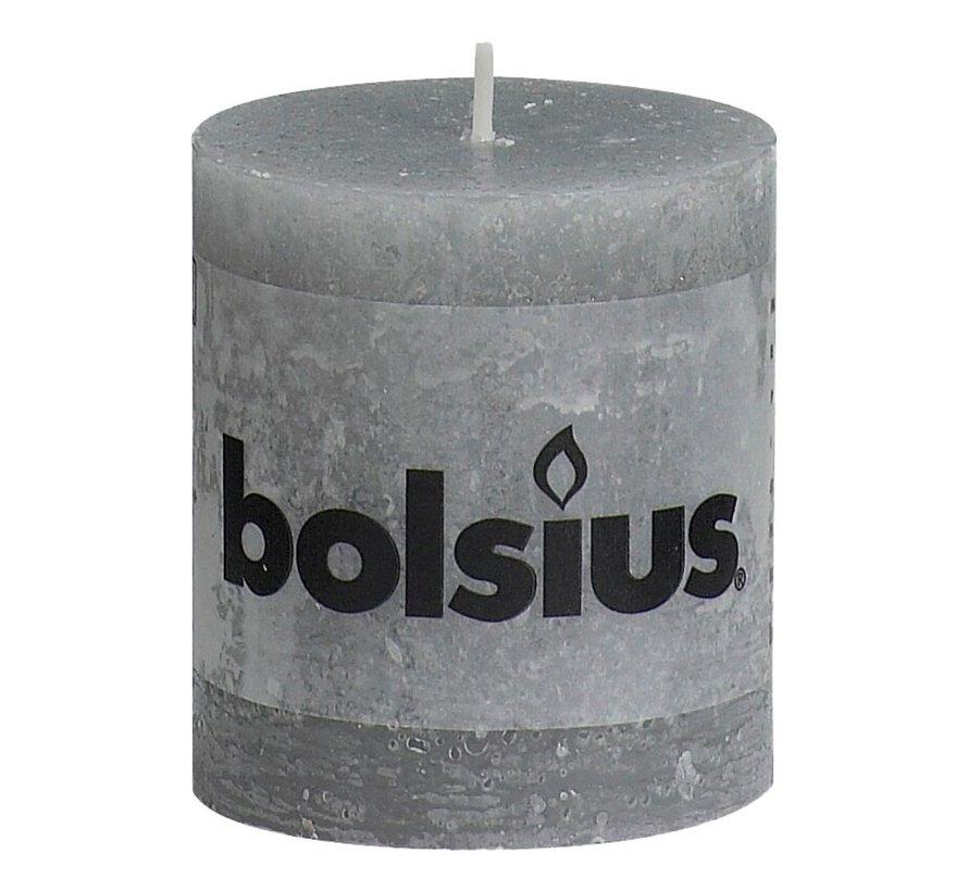 Bolsius Stompkaars rustiek 80 x 68 mm, lichtgrijs, 1 stuk