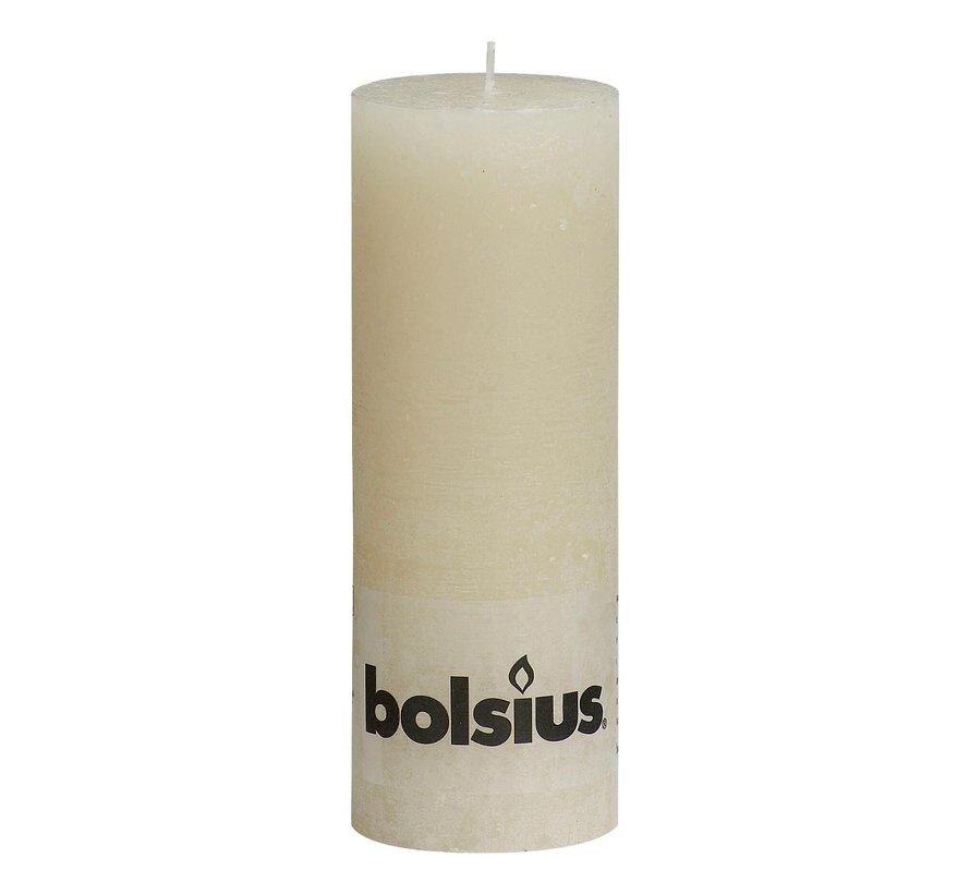 Bolsius Stompkaars rustiek 190 x 68 mm, ivoor, 1 stuk