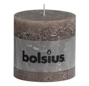 Bolsius Bolsius Stompkaars rustiek 100 x 100 mm, Bruin, 1 stuk