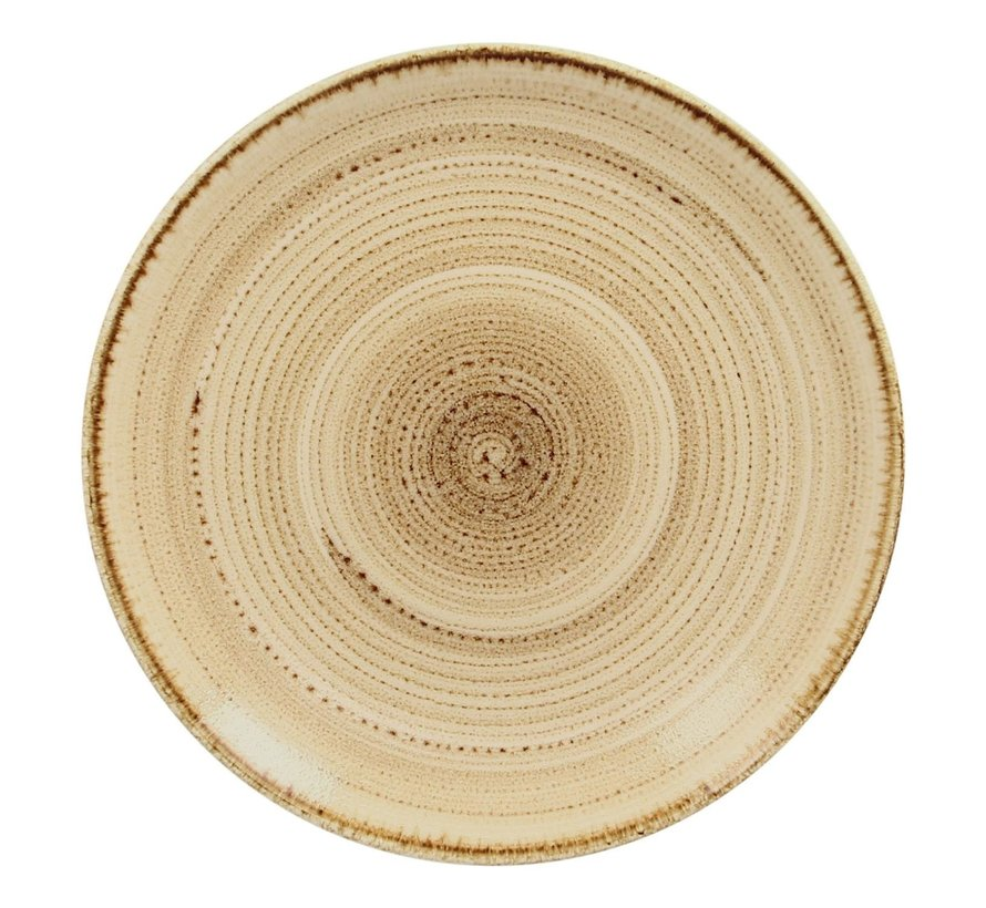 Rak Bord coupe plat 15 cm, zandkleur, 1 stuk
