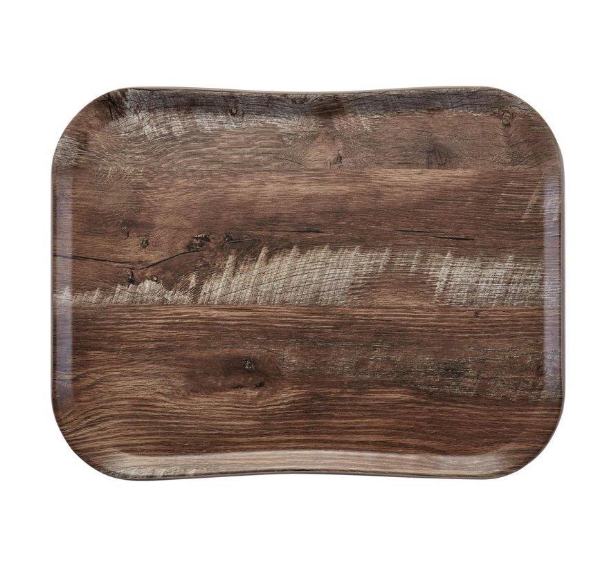 Cambro Dienblad 33 x 43 cm, houtlook dark oak, 1 stuk
