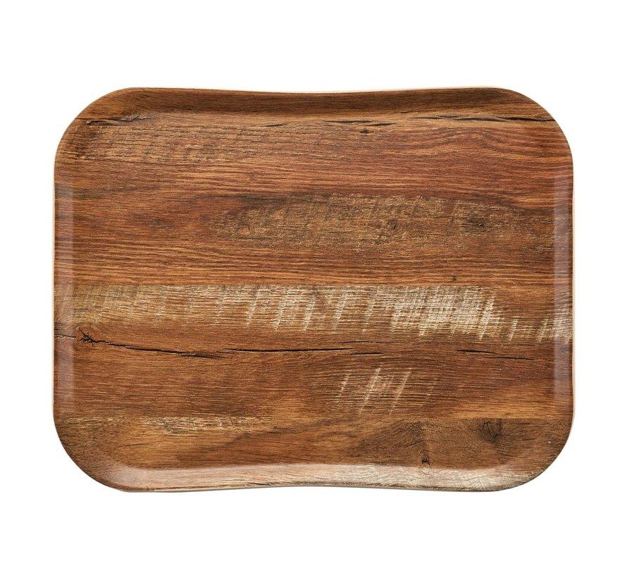 Cambro Dienblad 36 x 46 cm, houtlook brown oak, 1 stuk