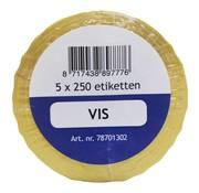 Overige merken Labellord Refillset removable 250 stuks, blauw, 5 rollen