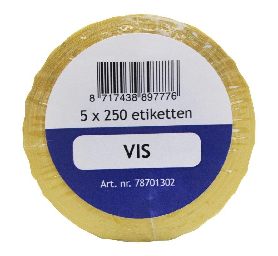 Labellord Refillset removable 250 stuks, blauw, 5 rollen