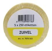 Overige merken Labellord Refillset removable 250 stuks, geel, 5 rollen