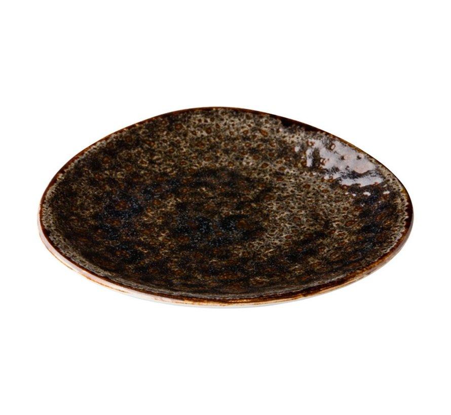 Qauthentic Bord driehoek jersey 21 cm, bruin, 1 stuk