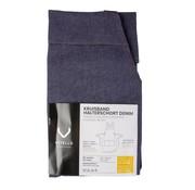 Overige merken Vitello Halterschort kruisband met vierkante zak, blauwe denim, 1 stuk