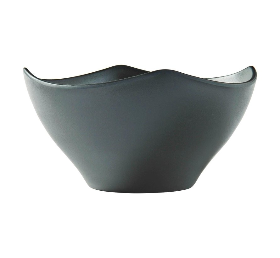 Melaminepo Schaal Zen Square zwart, 21 cm, 1 stuk