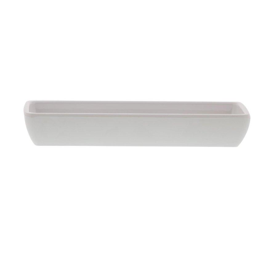 Truyts Schaal rechthoek wit, 19 x 6 cm, 1 stuk