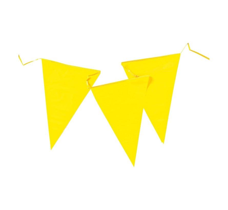 Reuzenvlaggen PE geel, 10 m, 1 stuk