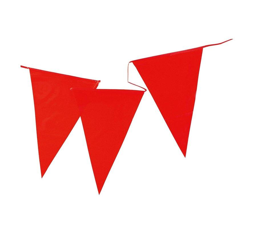 Vlaggenlijn rood, 10 meter