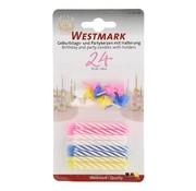 Overige merken Westmark Taartkaarsjes + houders, 36 stuks
