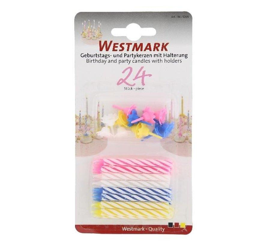 Westmark Taartkaarsjes + houders, 36 stuks