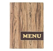Overige merken Securit Menumap Wood A4 bruin, 1 stuk