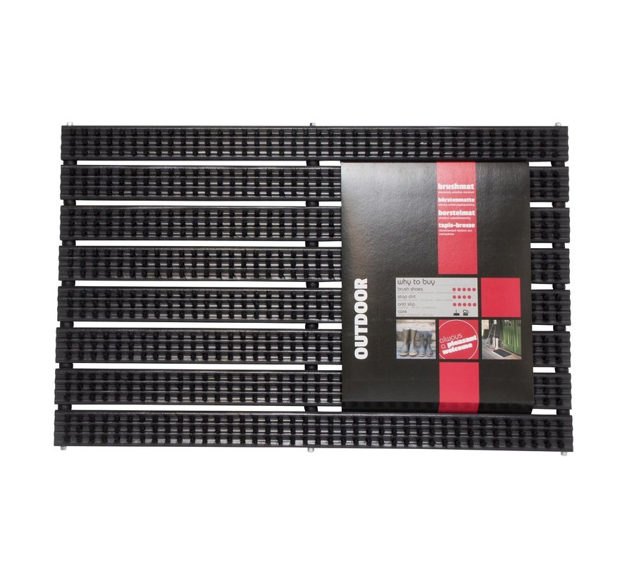 Md Entree Mat Avanti Brush 40 x 60 cm, zwart, 1 stuk