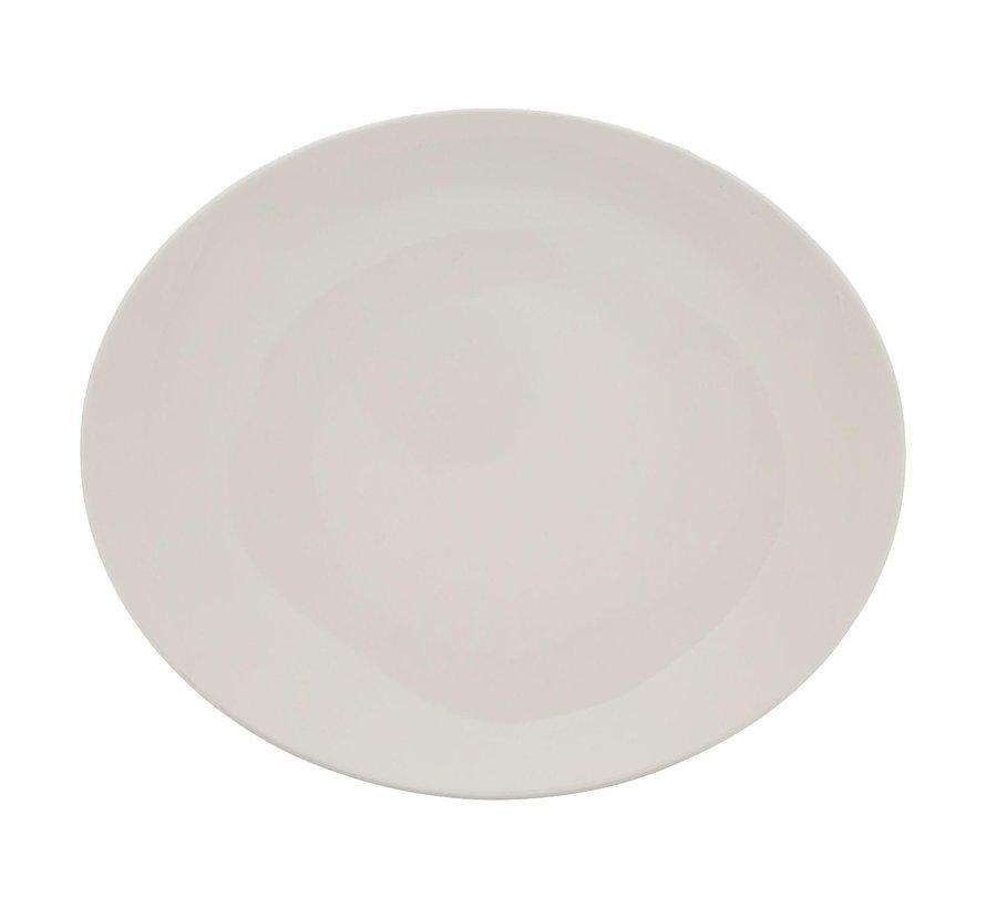Rak Steakbord ovaal roomwit, 30 cm, 1 stuk