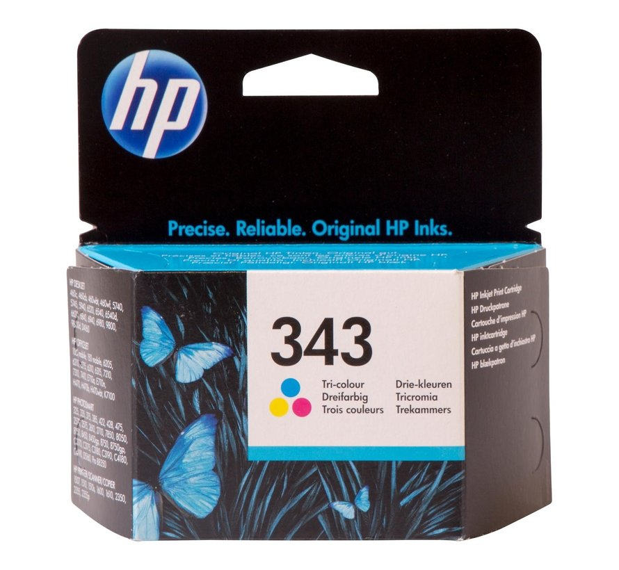 Hp Inktcartridge 343 kleur, 1 stuk