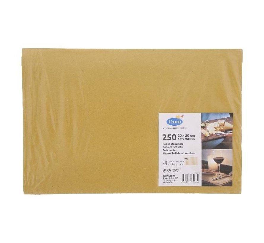 Duni Placemats recycle bruin, 20 x 30 cm, 250 stuks