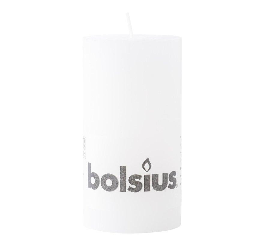 Bolsius Stompkaars rustiek 130/68, wit, 1 stuk