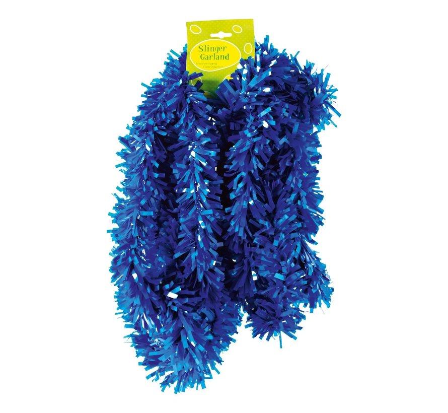 Guirlande, PVC, brandvertragend blauw, 10 meter