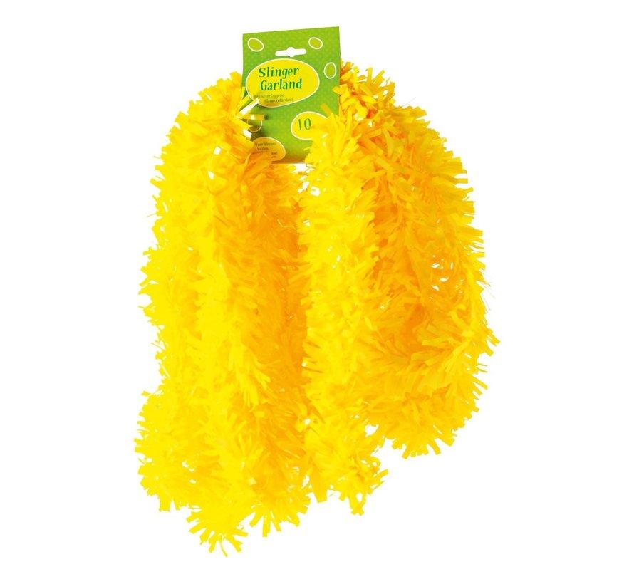Guirlande, PVC, brandvertragend geel, 10 meter