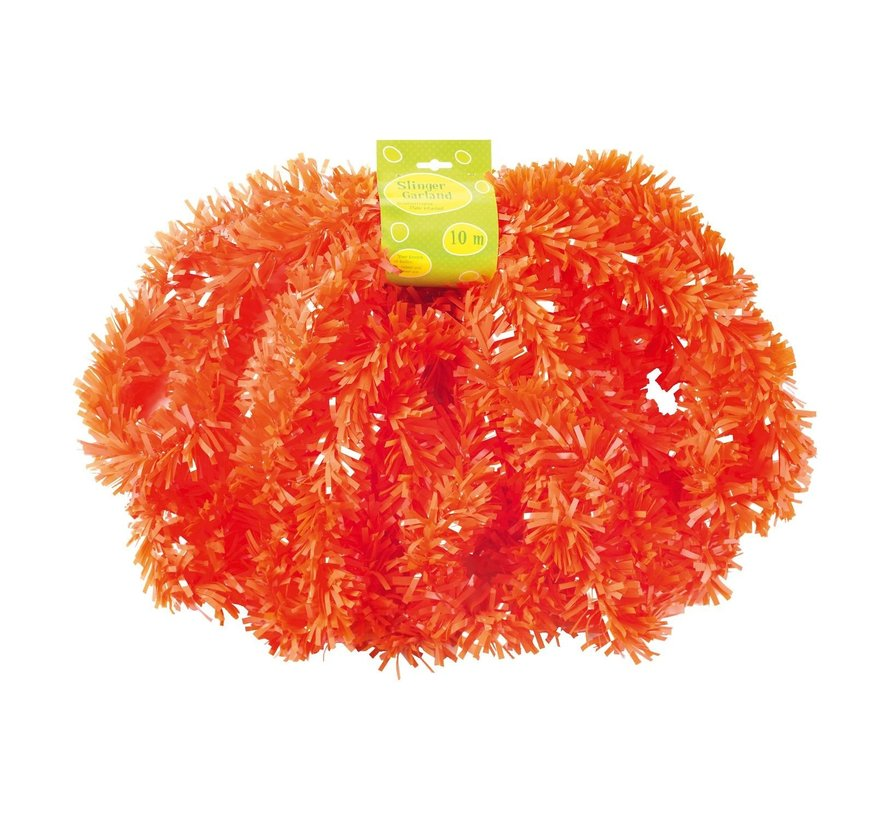 Guirlande, PVC, brandvertragend oranje, 10 meter