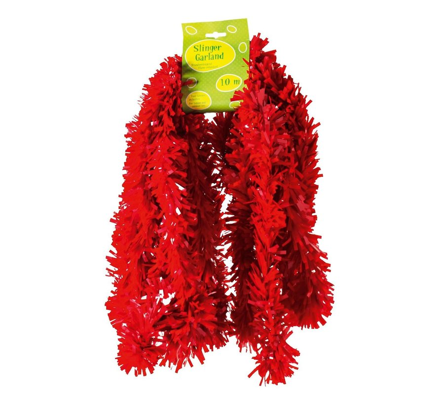 Guirlande, PVC, brandvertragend rood, 10 meter