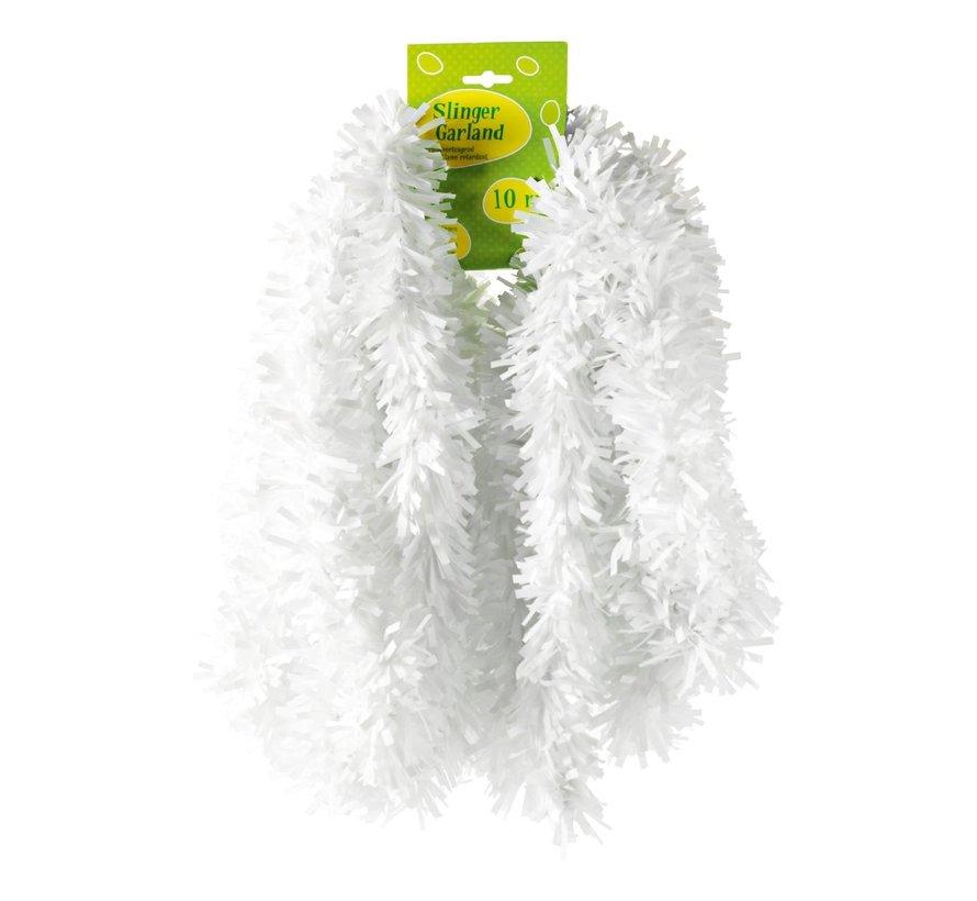 Guirlande, PVC, brandvertragend wit, 10 meter