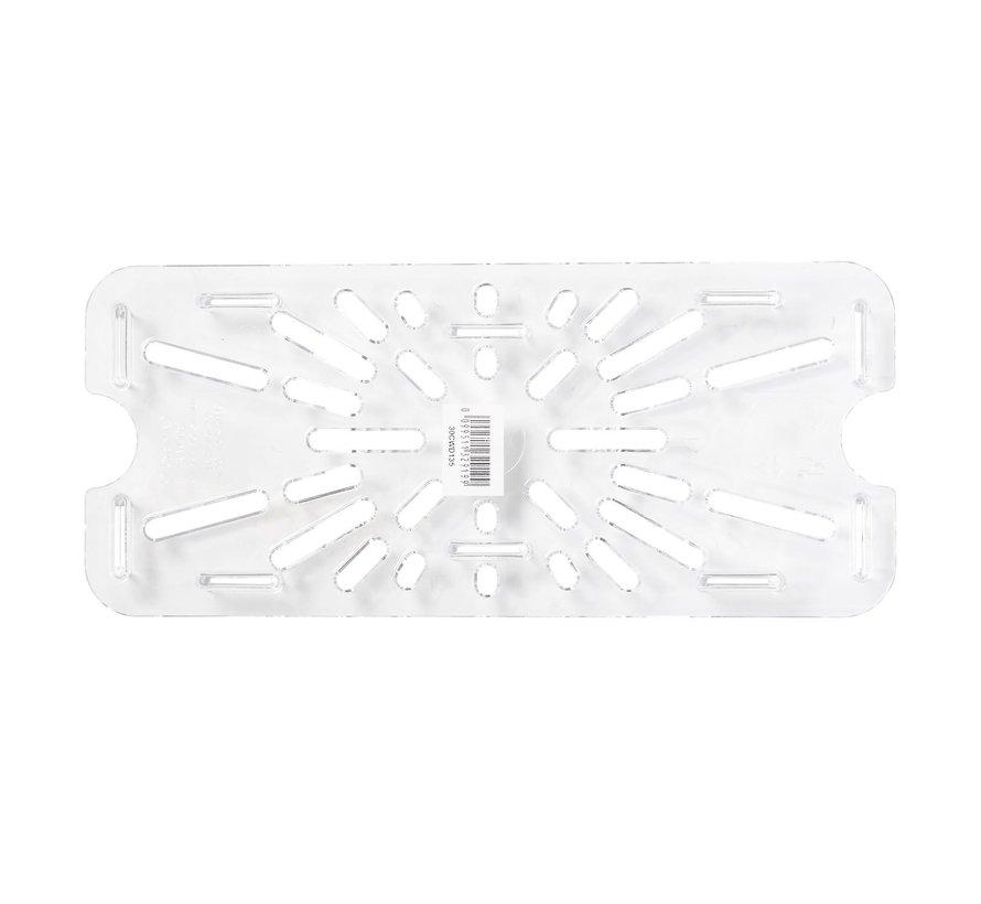 Camwear Gastronorm lekrooster 1/3 polycarbonaat helder transparant, 1 stuk