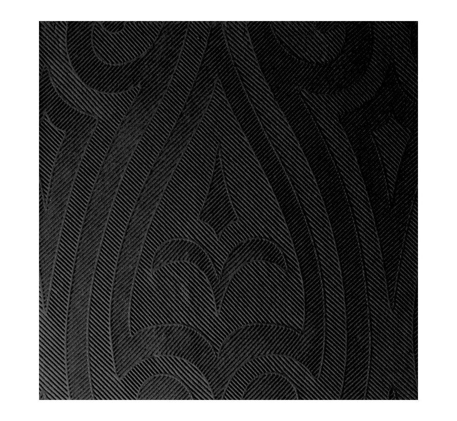 Duni Servetten Lily 48 x 48 cm, zwart, 40 stuks
