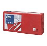 Overige merken Tork Servetten 2-laags rood, 33 x 33 cm, 200 stuks