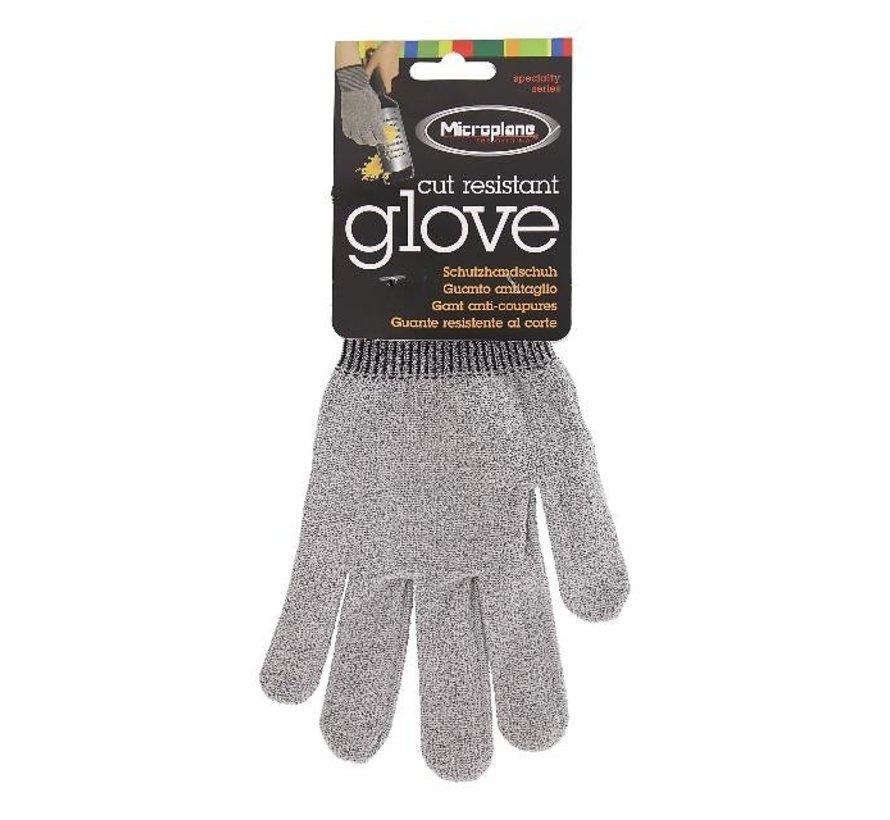 Microplane Snijbestendige handschoen 22 cm grijs te gebruiken tijdens het raspen en snijden, 1 paar