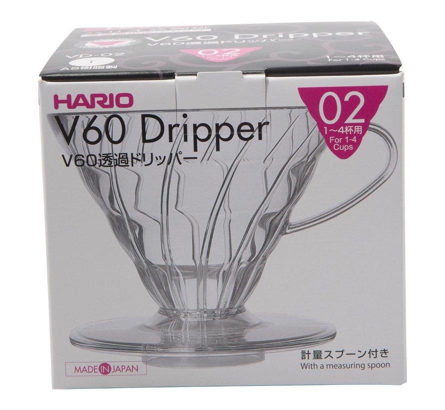 Hario V60 Dripper VD 02 kunststof, 1 stuk