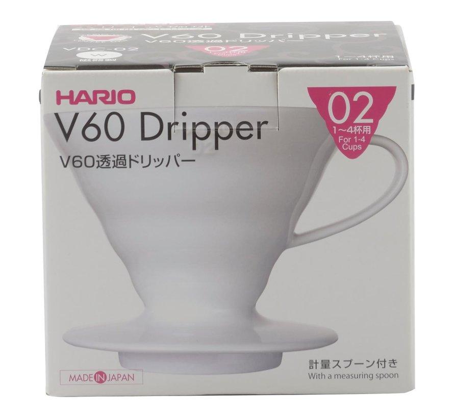 Hario V60 Dripper 02 Porselein, 1 stuk