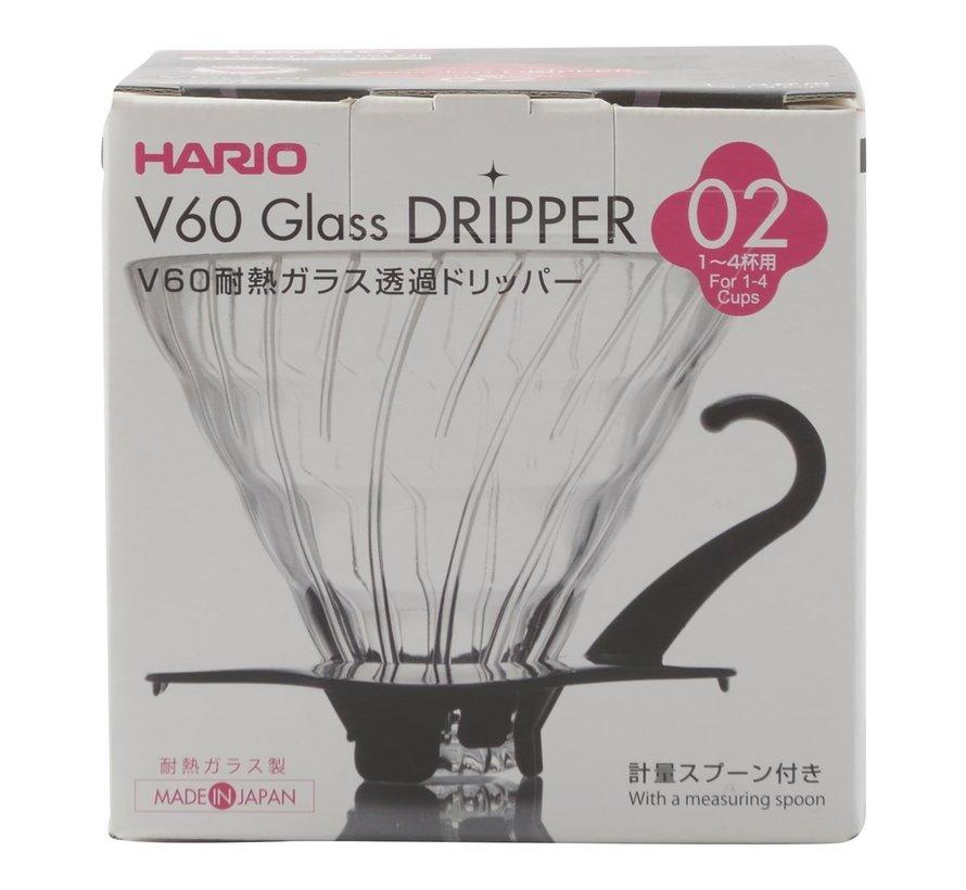 Hario V60 Dripper VDG 02 glas, 1 stuk