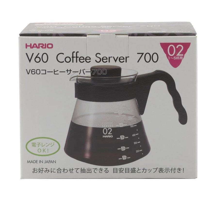 Hario V60 Coffee Server VCS -02 B 700 ml, 1 stuk