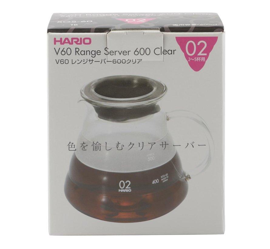Hario V60 Range Server XGS-60 TB 600 ml clear, 1 stuk
