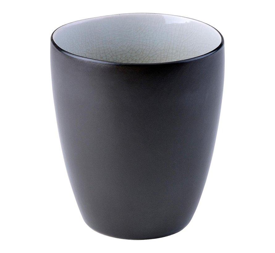 Gastro Beker grijs/aqua, 7,5 cm hoog 9 cm, 1 stuk