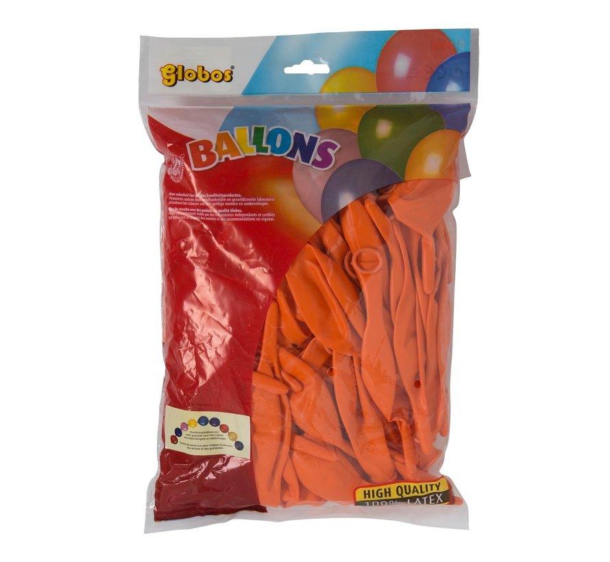 Globos Doorknoopballonnen onbedrukt, 100 stuks
