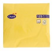 Duni Duni Servetten 3-laags 40 x 40 cm, geel, 125 stuks